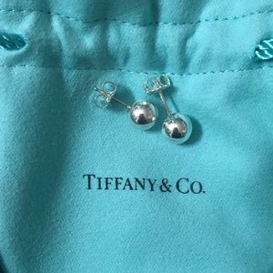 Tiffany ball stud earrings